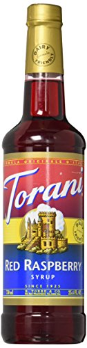 Torani Red Raspberry Syrup, Dairy Friendly 750mL (Red 750ml)