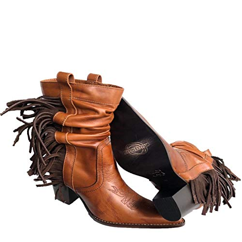 Brunello's Women's Western Cowboy Fringe Boot- The Daisy Boot for Women- Made in Brazil