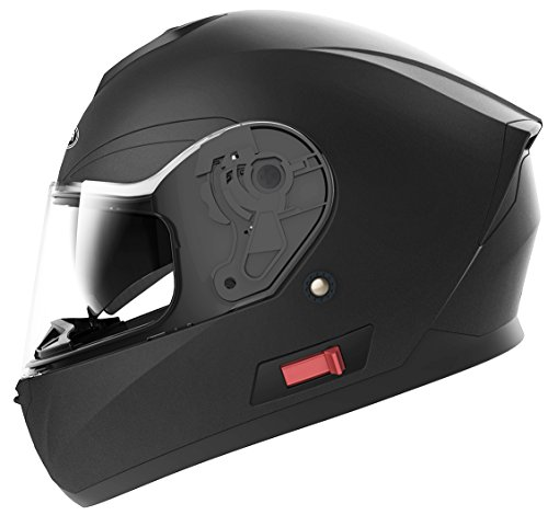 Snell Dot - Motorcycle Full Face Helmet DOT Approved - YEMA YM-831 Motorbike Street Bike Racing Crash Helmet with Sun Visor for Adult, Men and Women - Matte Black,Medium