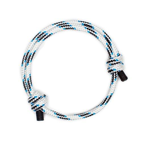 White Stylish Nautical Rope Cord Handmade Bracelet for Men
