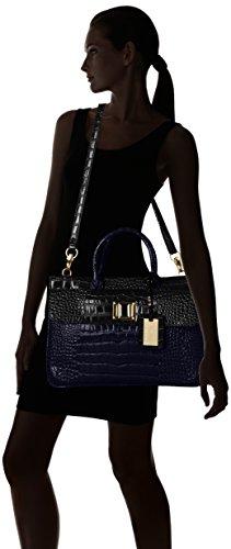 SwankySwans Bedford Patent Leather Business, Borsa per portatile donna Blu (Blu (Blue))