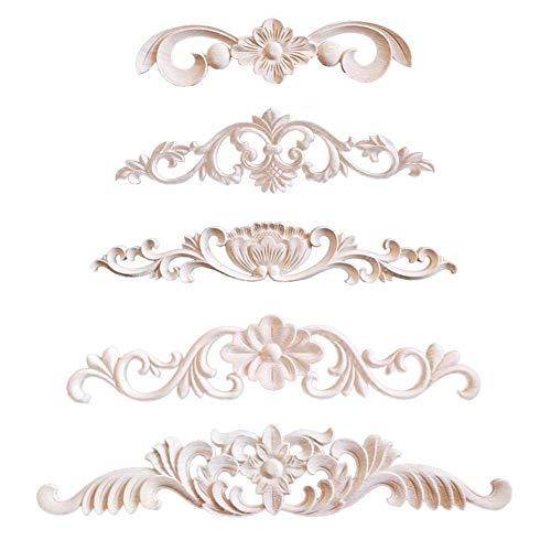 ay Applique Unpainted Furniture Door European Style, Unpainted Frame Door Decor European Style Applique ()
