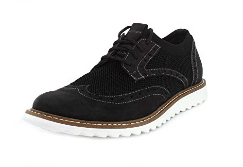 G.H. Bass & Co. Men's Dirty Buck 2.0 Wing Black Knit/Nubuck 9.5 D US - Dirty Wings