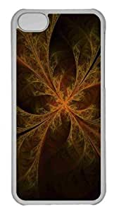 Customized iphone 5C PC Transparent Case - Woven Leaves Personalized Cover