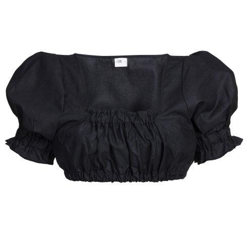 Dirndlbluse, schwarz, Trachtenbluse, Dirndl Bluse, Trachtenmode für Damen Gr. 46