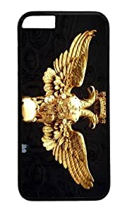 MOKSHOP Cool double headed eagle Hard Case Protective Shell Cell Phone Cover For Apple Iphone 6 (4.7 Inch) - PC Black hjbrhga1544