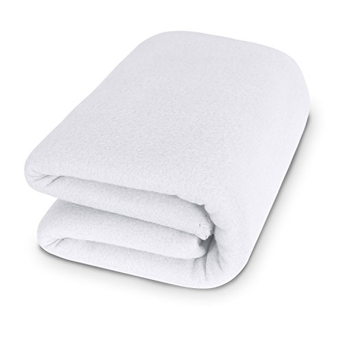 Deconovo Thermal Soft Brush Microfiber Fleece Blanket Super Warm Cozy All Season Lightweight Solid Throw Blankets For Bed Or Couch Queen Size 90 X 90 Inch White 1 Piece