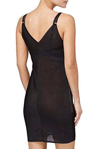 next Mujer Slip Camisola Moldeadora Sin Sujetador Firm Control De Encaje Tirantes Ajustables Negro