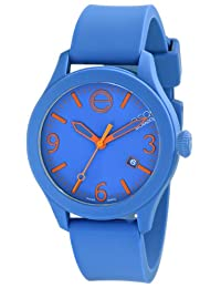 Esq Movado 07301464 Esq One Blue Silicone And Dial Watch