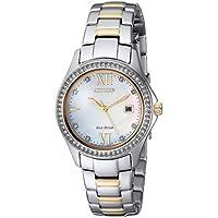 Citizen Women's Quartz Stainless Steel Casual Watch, Color Two Tone (Model: FE1144-85D)