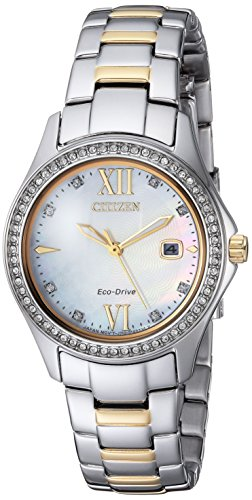Citizen Women's Quartz Stainless Steel Casual Watch, Color:Two Tone (Model: FE1144-85D)