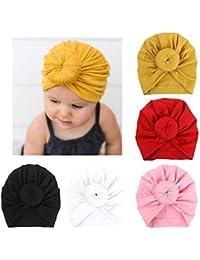 BQUBO 5 Pieces Baby Turban Hats Turban Bun Knot Baby...