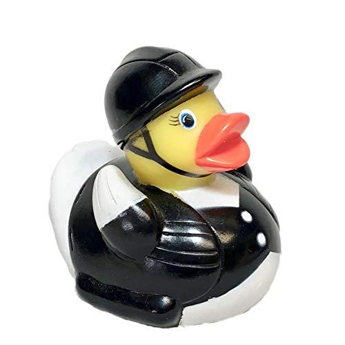 Ad Line Equestrian Horseback Rider Rubber Duck Bath Toy   Sealed Mold Free   Child Safe