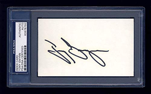 Tony Gwynn Autographed Signed Index Card Mint Vintage - PSA/DNA Certified Memorabilia Slabbed Hall of Fame Padres Autographed Signed from Sports Collectibles Online