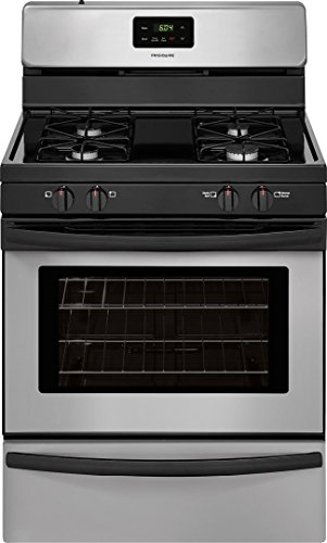 Frigidaire FFGF3016TM 30 Inch Freestanding Gas Range with 4 Sealed Burner Cooktop, 4.2 cu. ft. Primary Oven Capacity in Silver Mist ()