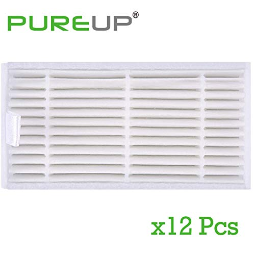 HEPA Replacement Filter Compatible with ILIFE V3 V3s pro V5 V5s pro Robot Vacuum Clear Accessories Parts (12 Pack)
