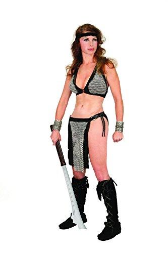 Museum Replicas Tigress Chain Bra & Loincloth Woman's Fantasy Warrior Costume (S/M) ()