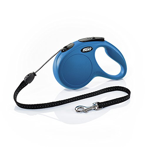 Flexi Leash Cat - Flexi New Classic Retractable Dog Leash (Cord), 16 ft, Medium, Blue
