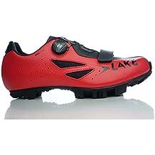 Lake Cycling 2017 Men's MX176 Mountain Bike Shoes - Red/Black