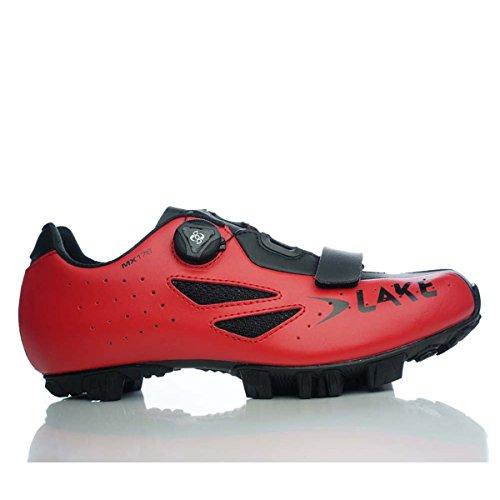 Scarpa Adulto 36 Rosso nero Unisex Lake Ciclismo Mx176 qwxBCU5