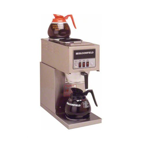 Bloomfield 9003-D3 Integrity Coffee Brewer, In-Line, Pour-Over Option, Single, 1 Lower, 2 Upper, Stainless Steel, 18'' Depth, 8 5/8'' Width, 18 7/8'' Height