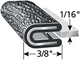 """Dual Gripping Fingers Trim-Lok Edge Trim PVC Plastic Edge Protector for Sharp and Rough Surfaces 7//16/"""" Leg Length and More Fits 3//32/"""" Edge Easy Install Boats 100/&rsq Machinery Push-On Edge Guard for Cars Flexible"""
