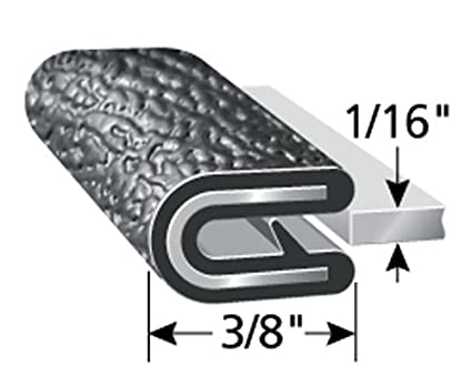 """Easy Install Trim-Lok Edge Trim and More Fits 3//16/"""" Edge Single Gripping Finger Flexible 100/&r Push-On Edge Guard for Cars Machinery 17//32/"""" Leg Length Boats PVC Plastic Edge Protector for Sharp and Rough Surfaces"""