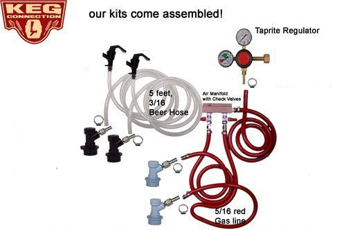 Dual Tap Kit, Ball Lock, Premium Taprite Regulator(no Kegs or (Keg Dual Tap)