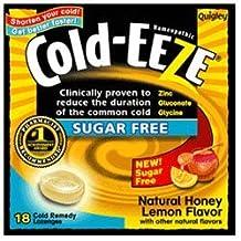 Cold-Eeze Sugar Free Lozenges with Zinc Gluconate Glycine, Natural Honey Lemon 18 ea