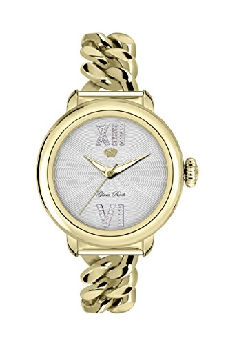 Glam Rock Women's GR77040 Bal Harbour Diamond Gold Ion-Plated Stainless Steel Wristwatch