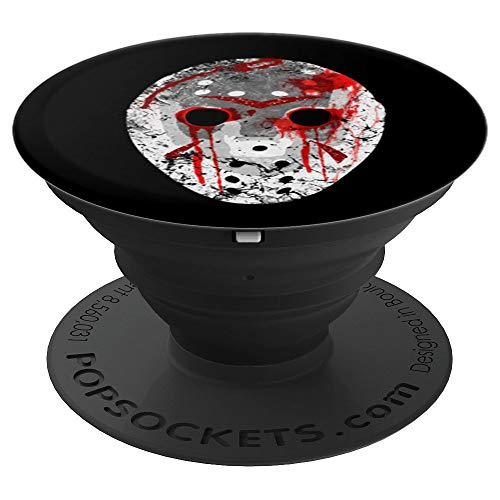 Friday 13th Halloween Bloody Jason Hockey Mask - PopSockets Grip and Stand for Phones and Tablets