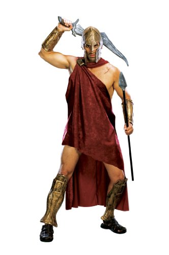 [Deluxe Spartan Costume, X-Large] (Spartan 300 Halloween Costumes)