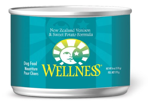 Wellness Canned Dog Food for Adult Dogs, Venison and Sweet Potato Recipe, 6-Ounce Cans, Pack of 24, My Pet Supplies