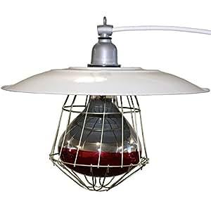 Amazon Com Industrial 12 Quot Brooder Lamp Fixture Chicken For Coop House Chick Warmer Heat Light