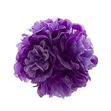 Best-topshop Purple Kissing Ball Pomander Flowers Wedding Silk Rose Flowers Ball Party Centerpiece Bouquet Decor (5)