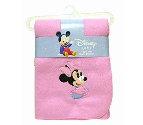 Disney Baby Minnie Mouse Applique 100% Soft Fleece Blanket