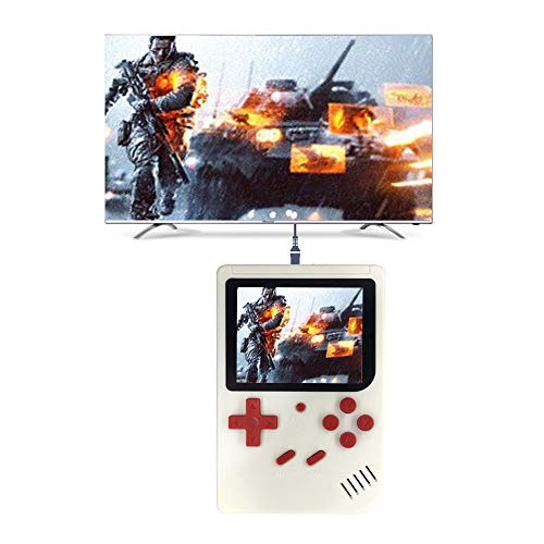 Livoty Playstation Kids Handheld Game Video Console Portable Gaming System 500 Classic Games Console LCD Game Player 【Shipping from USA】 (White)