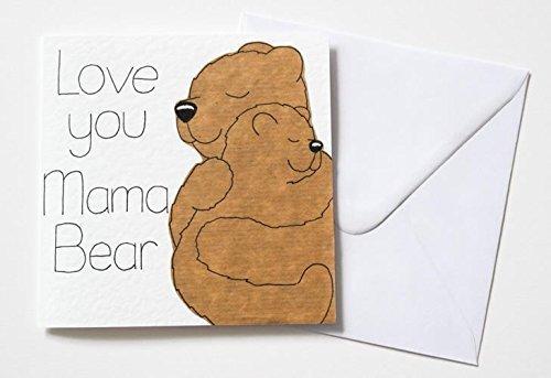 Amazon Love You Mama Bear Mothers Day Birthday Card Handmade