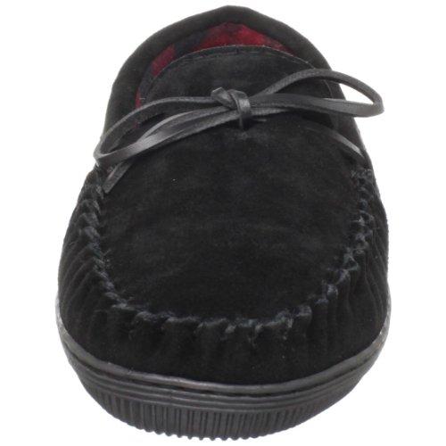 Tamarac By Slippers International Mocassino Rimorchio Per Uomo Nero Pantofole