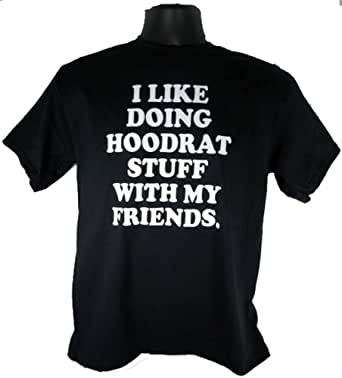 I Like Doing Hoodrat Stuff With My Friends Adult Black Youtube T-Shirt Shirt Tee (Small)