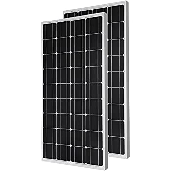 2 Pieces of HQST 100 Watt 12 Volt Monocrystalline Solar Panel