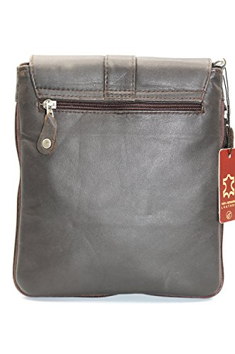 Body European Brown New Cross Soft Leather Sheep Genuine Women's Shoulder Bag HBHwnOax