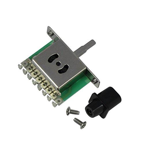 FLEOR 3 Way Guitar Pickup Selector Switch w/ Black Knob for Tele Telecaster Strat Electric Guitar