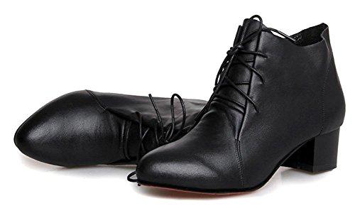las otoño con de de Martin cargadores CN36 con US6 gruesa botas botas encaje de de señora de Sra botas mujeres los las en y primavera UK4 EU36 individuales xqZB0UZwX