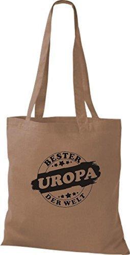 ShirtInStyle Bolso de tela Bolsa de algodón Bester UROPA der Welt Marrón Claro