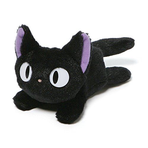 Kiki's Delivery Service Hayao Miyazaki Studio Ghibli Plush Stuffed Black Cat Toy]()