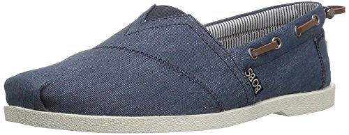 Skechers BOBS Women's Chill Luxe-Fancy Me Boat Shoe, Dark Navy, 8.5 M - Flat Fancy Lady Shoes