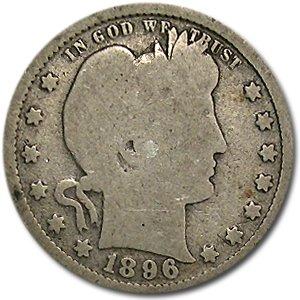 1896 Barber Quarter Good/VG Quarter Good