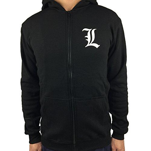 Yuesha Aiyin Unisex Death Note Hooded Sweatshirt Zip Hoodie (Death Note Cloth)