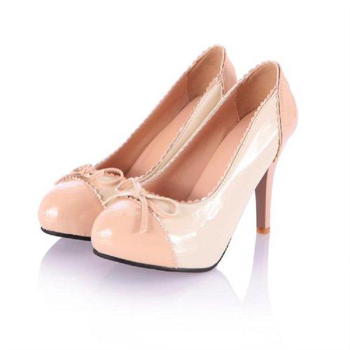 Bedel Voet Sweet Damesschoenen Platform Hoge Hak Stiletto Mary Jane Pump Abrikoos